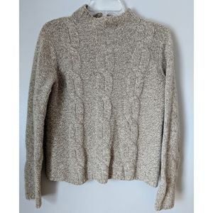 LL Bean Lamb's Wool/Rabbit Hair Fisherman sweater